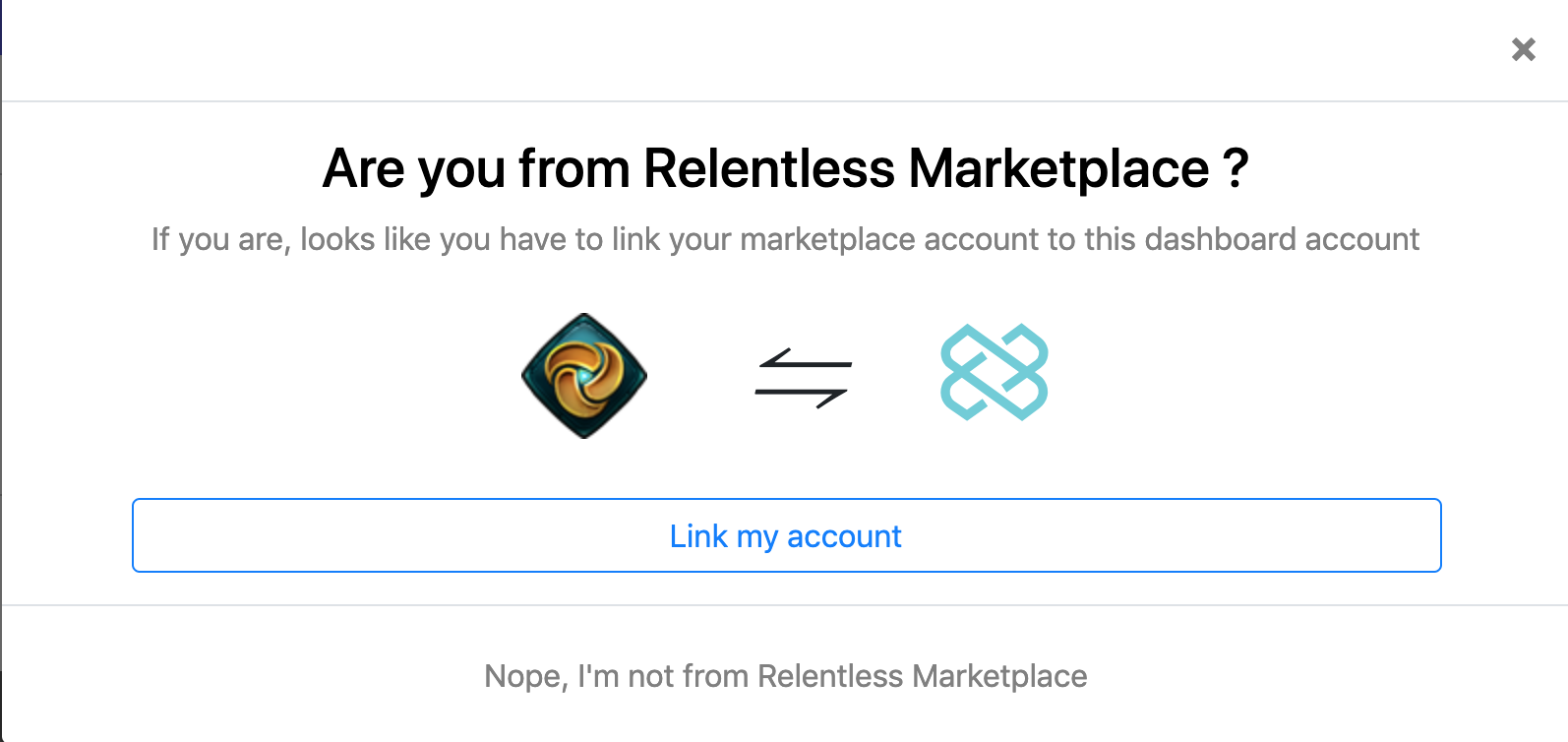 Link Marketplace Account